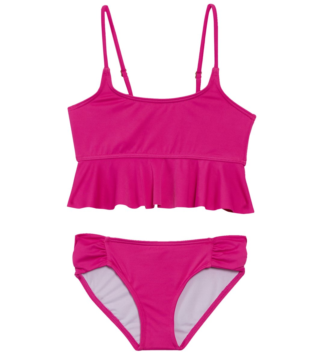 ba2202b475 Billabong Girls' Sol Searcher Flutter Bikini Set (Little Kid, Big Kid) at  SwimOutlet.com - Free Shipping
