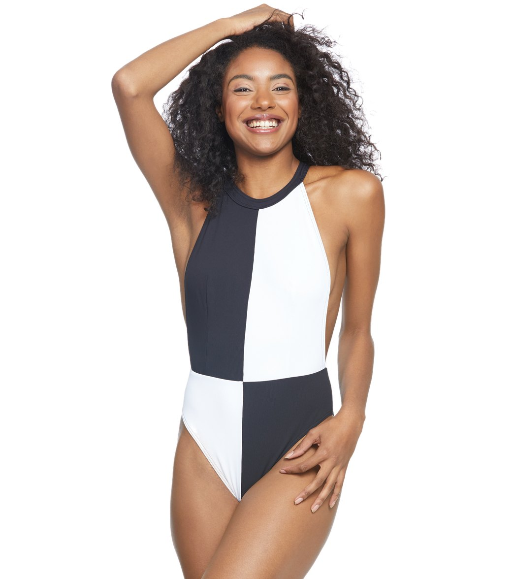 25b9fae08e088 Volcom Simply Rib One Piece Swimsuit at SwimOutlet.com - Free Shipping
