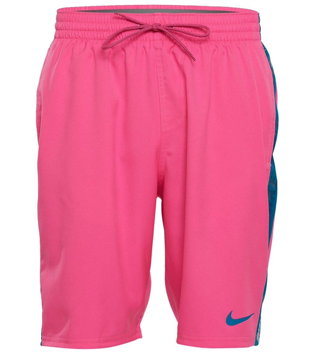 to buy pretty nice buy popular Nike Men's 20u0022 Logo Splice Racer Volley Shorts