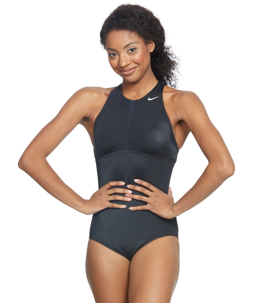 e2434d565 Nike Optic Camo High Neck One Piece Swimsuit at SwimOutlet.com - Free  Shipping