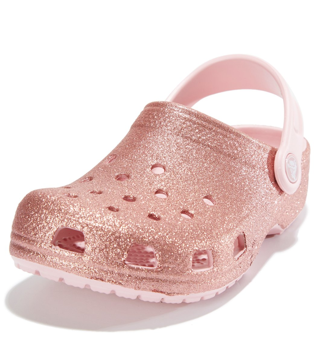 1b8262f2259f Crocs Kids  Classic Glitter Clog (Toddler