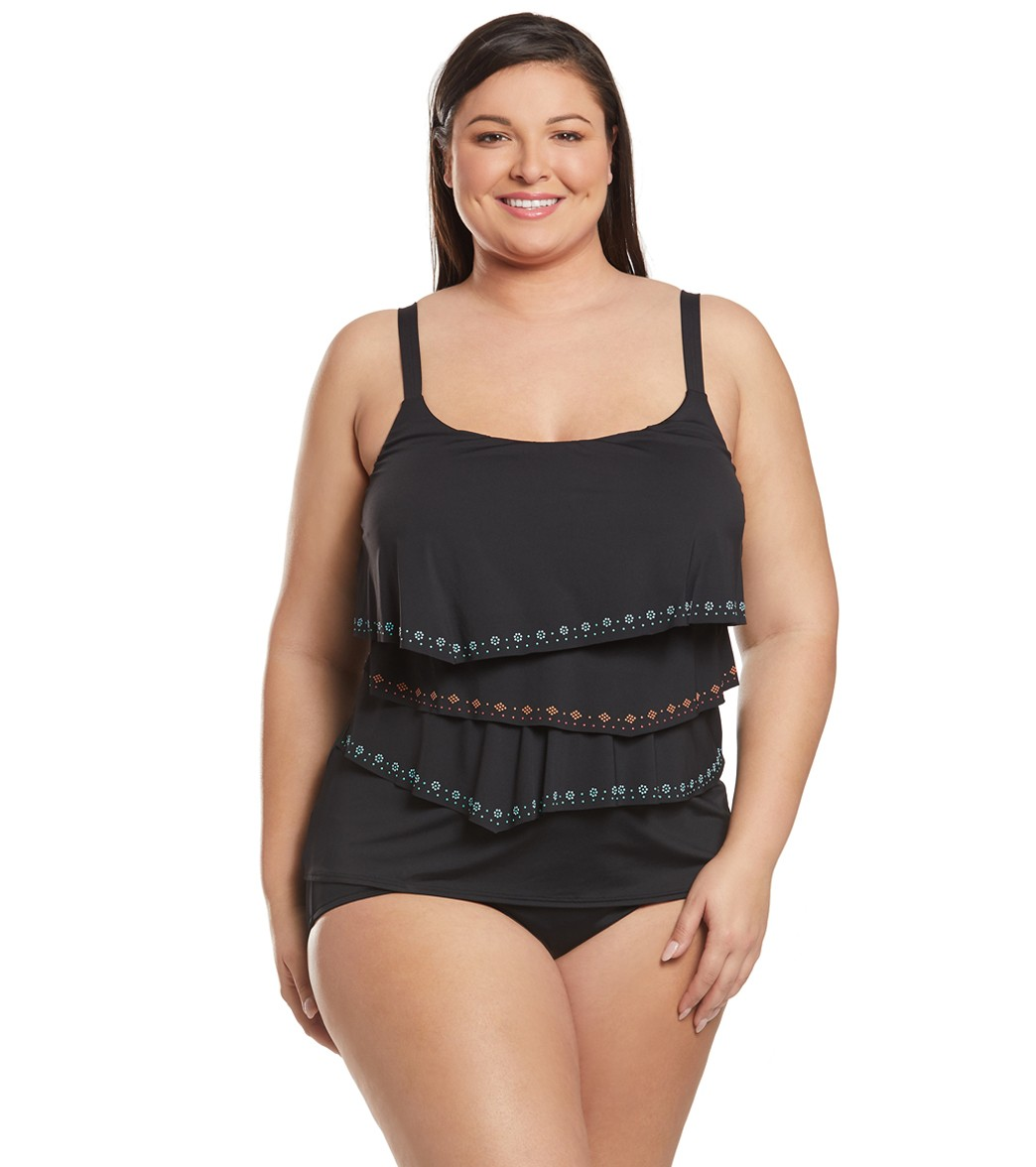 59feee3ab1c Coco Reef Plus Size Hot Spots Aura Tankini Top at SwimOutlet.com - Free  Shipping