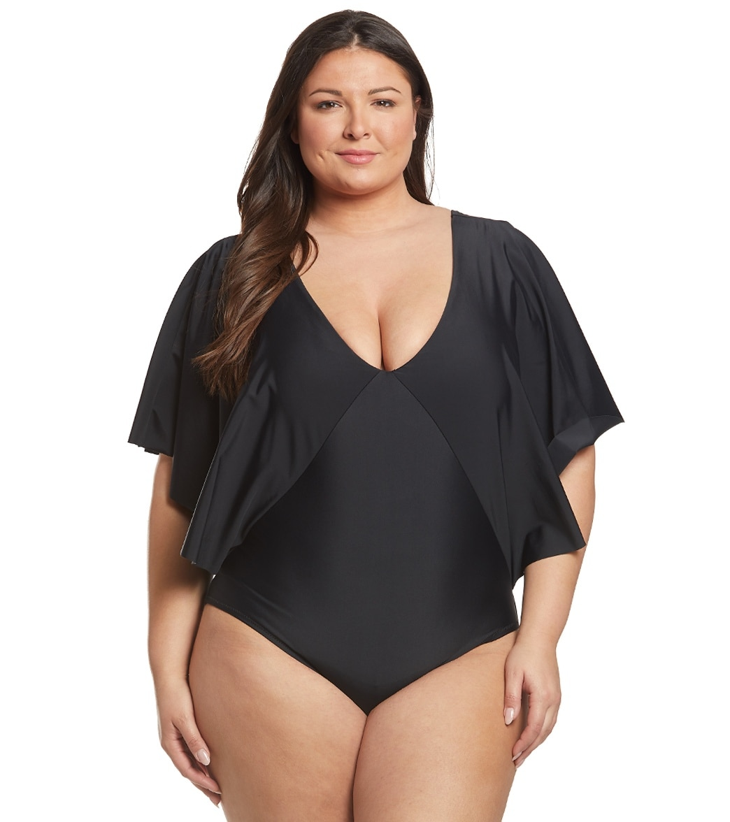 9198ef5960eef Raisins Plus Size Samba Solids Stingray One Piece Swimsuit at  SwimOutlet.com - Free Shipping