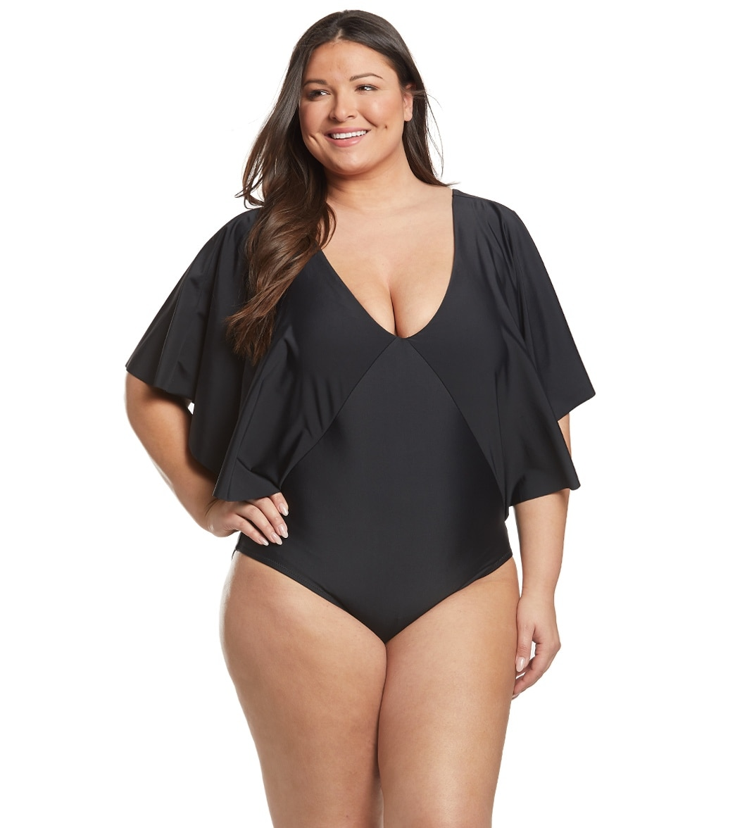 dfc20ec18f42a Raisins Plus Size Samba Solids Stingray One Piece Swimsuit at ...