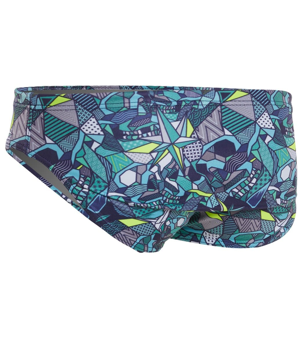 9bb233f0d92e6 Turbo Men's Skull Geo Water Polo Brief at SwimOutlet.com - Free Shipping