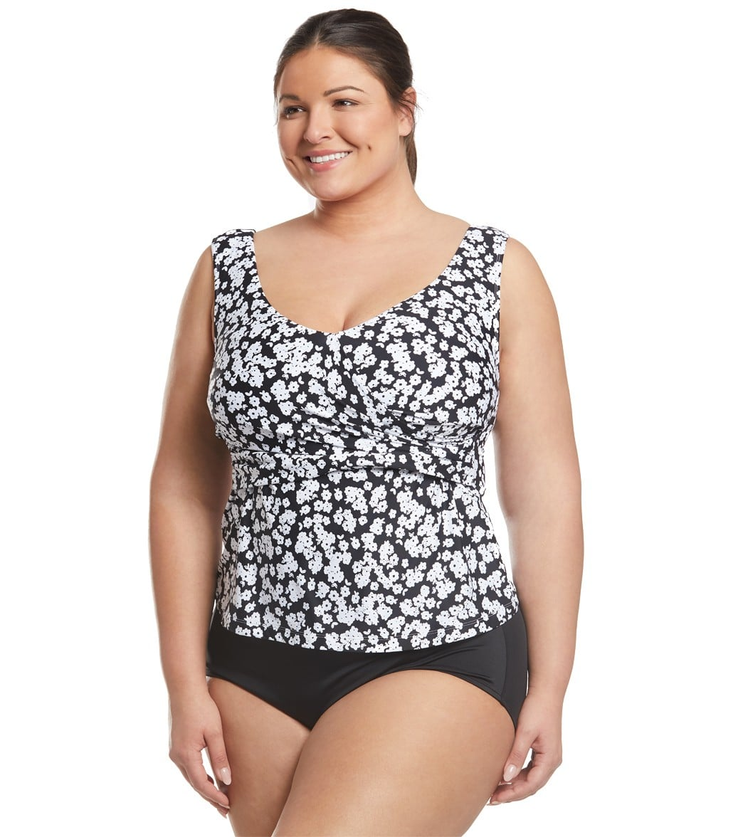 43def7e61971d Anne Cole Plus Size Itsy Bitsy Ditsy Off The Shoulder Tankini Top at ...