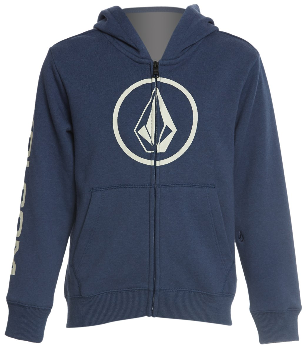 80568a3f19 Volcom Boys' Stone Front Zip Hoodie (Big Kid)