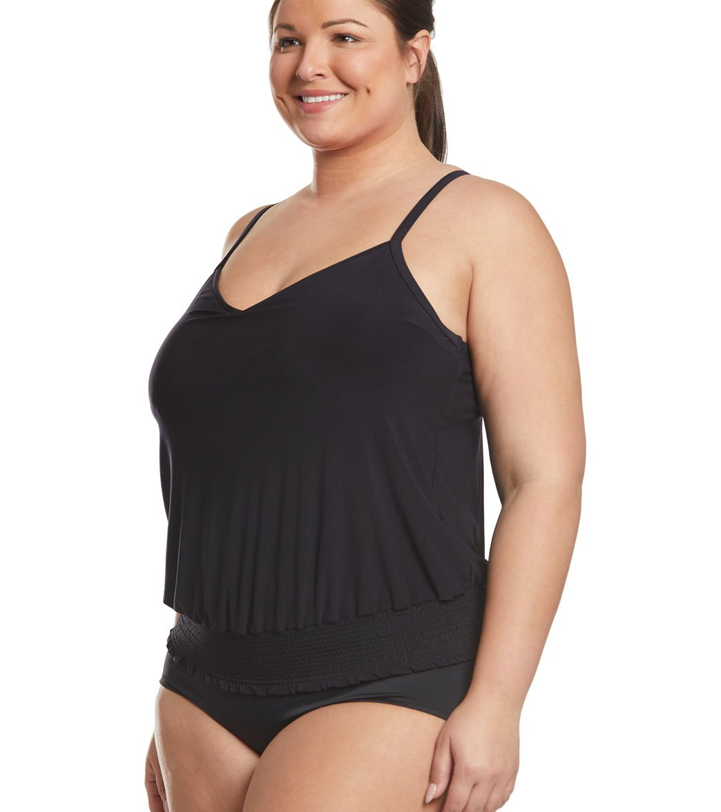 48794ad739 Magicsuit by Miraclesuit Plus Size Justina Tankini Top at SwimOutlet ...