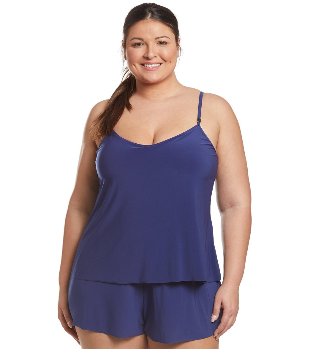 8ff27d4244 Magicsuit by Miraclesuit Plus Size Mila Romper Swimsuit at SwimOutlet.com -  Free Shipping