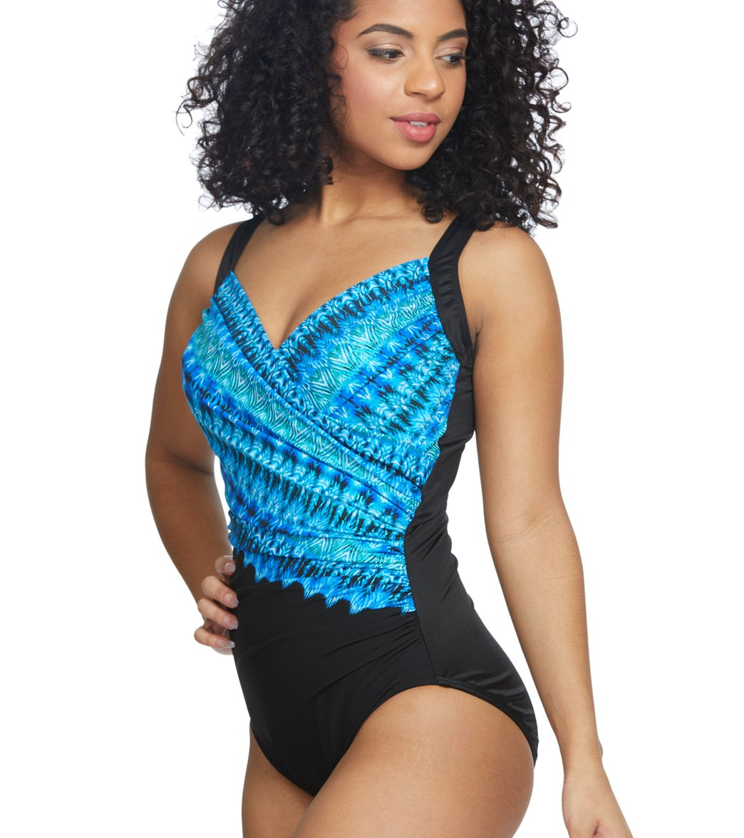 119a987e025ae Miraclesuit Cabana Chic Sanibel One Piece Swimsuit (DD Cup) at ...