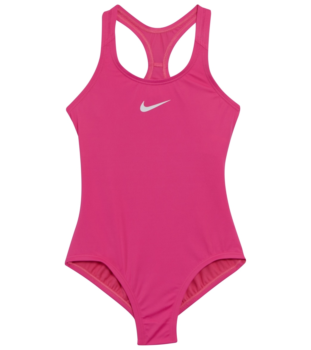 488a26f2fe56e Nike Girls' Racerback One Piece Swimsuit (Big Kid) at SwimOutlet.com