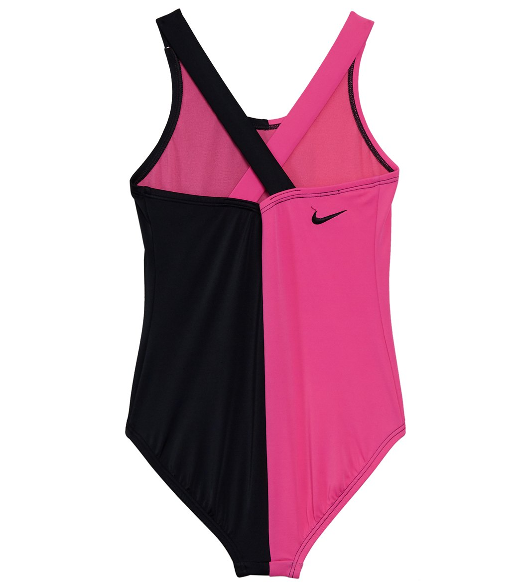 d557fbaa0 Nike Girls' Rift One Piece Crossback Swimsuit (Big Kid) at SwimOutlet.com