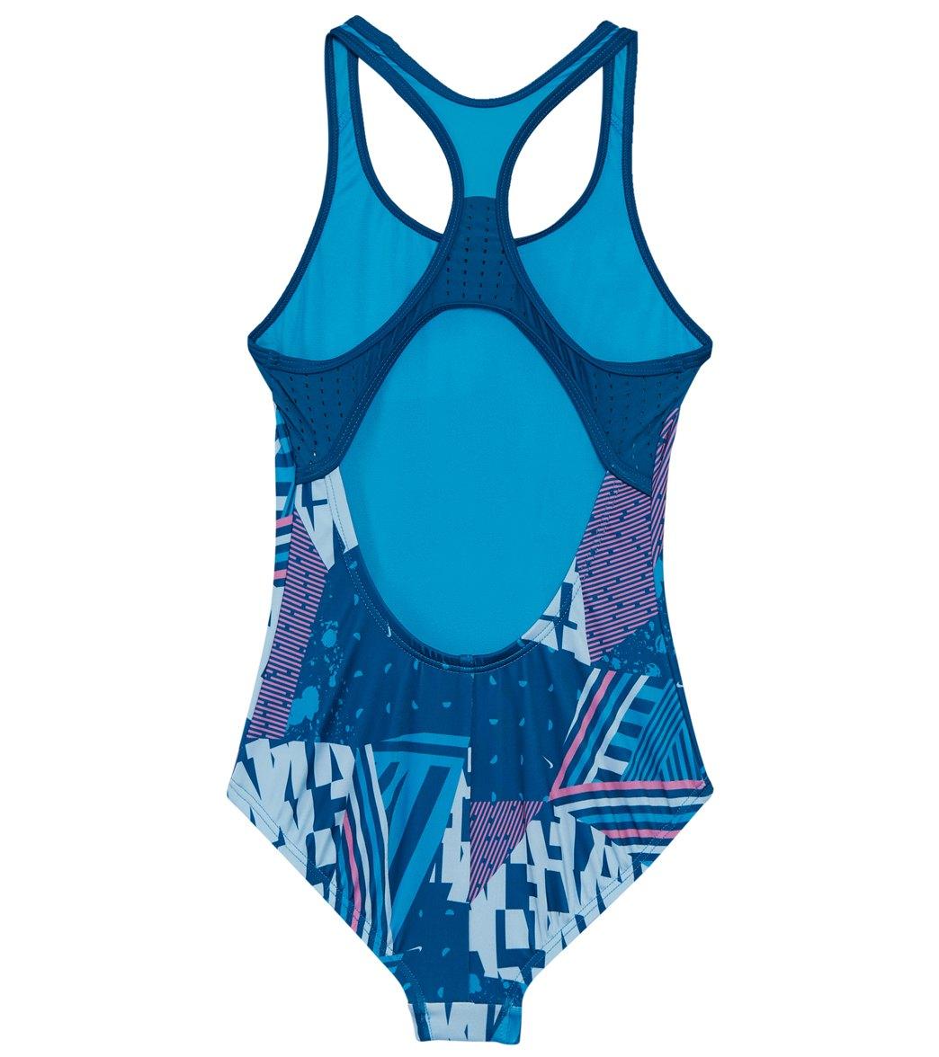 e187221a9a0 Nike Girls' Mash Up Racerback One Piece Swimsuit (Big Kid)
