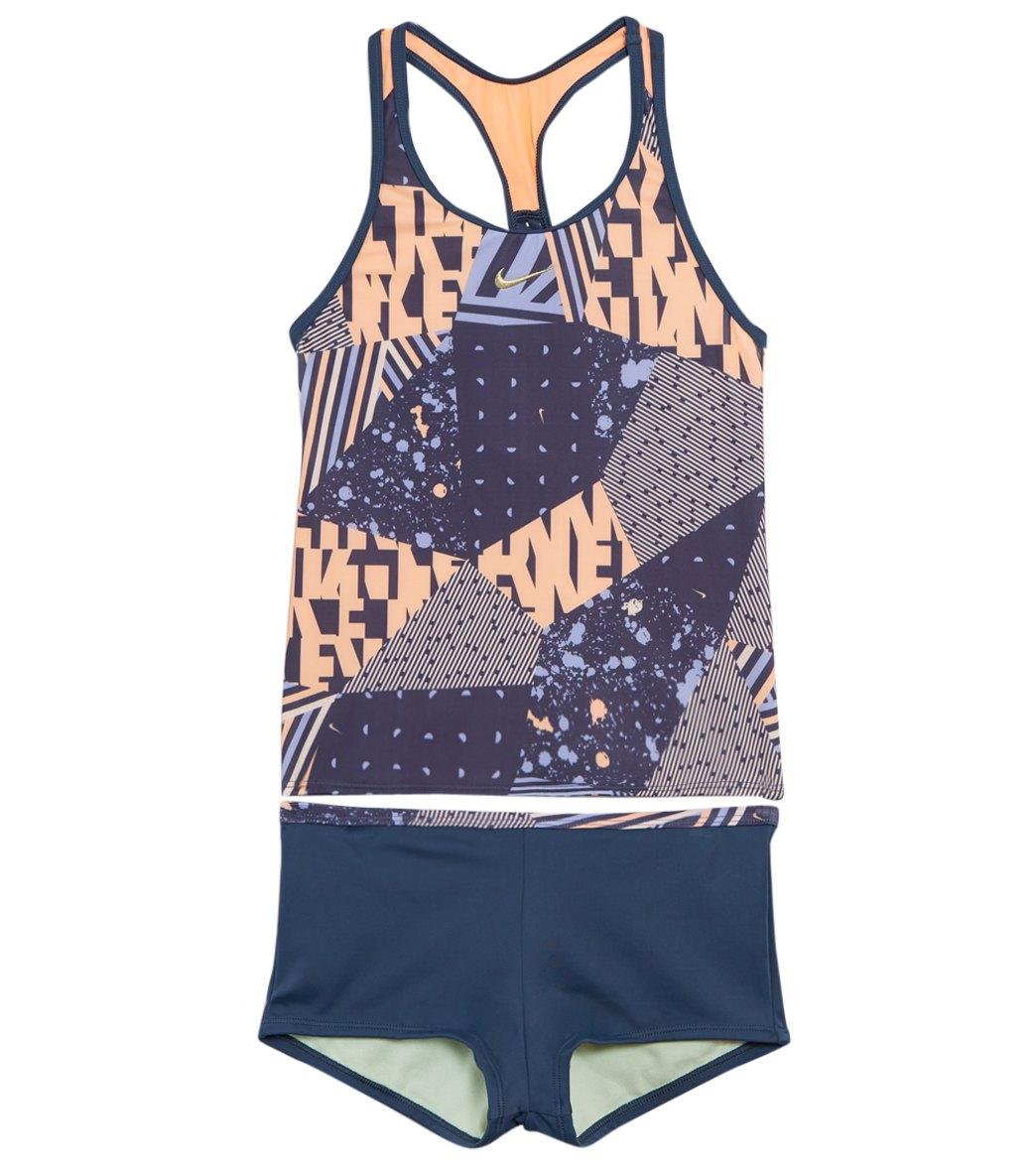 e089de48c68 Nike Girls' Mash Up Racerback Tankini Set (Big Kid)