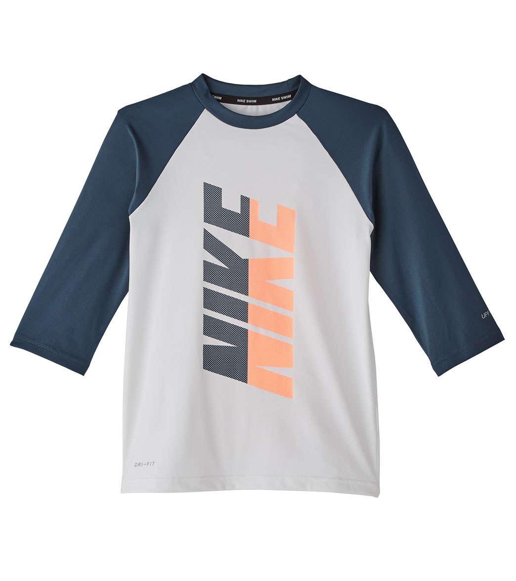 36c8aec38 Nike Girls' Rift 3/4 Sleeve Hydroguard Rash Guard (Big Kid) at ...