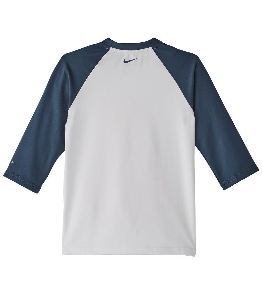 ef2e729e48 Nike Girls' Rift 3/4 Sleeve Hydroguard Rash Guard (Big Kid) at ...