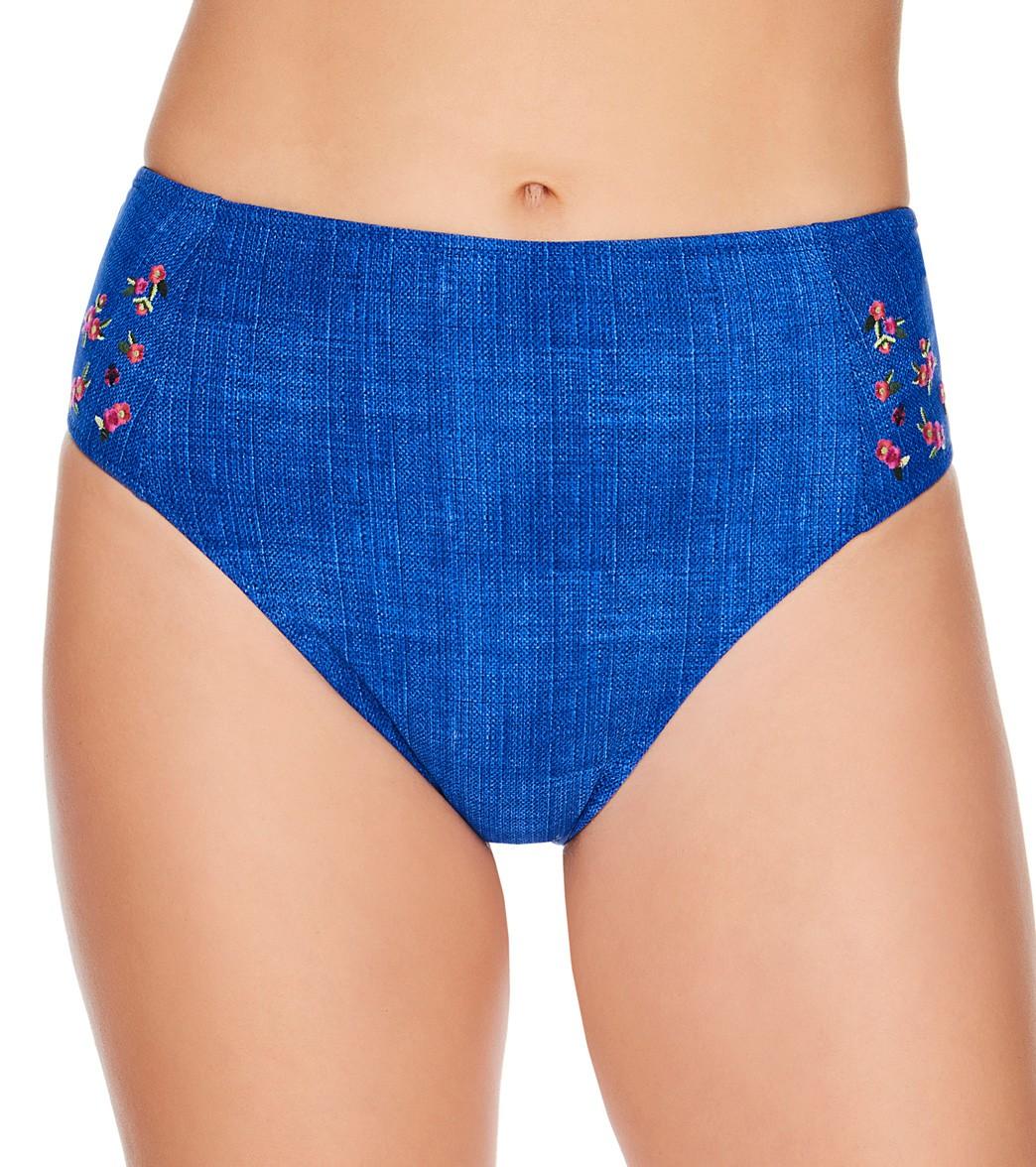 7c2c229560 Vera Bradley Reversible Chambray and Petite Paisley Lily High Waisted Bikini  Bottom