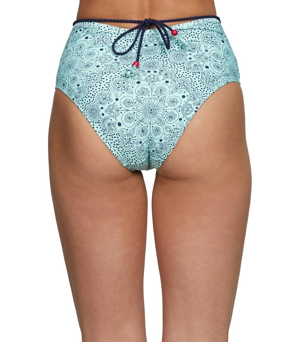 0e61b8ca1425e Anne Cole Mykonos Medallion High Waisted Bikini Bottom at SwimOutlet ...