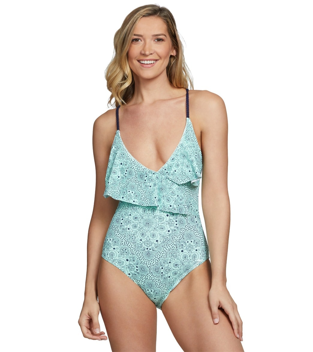 b2937136dde Anne Cole Mykonos Medallion V-Neck One Piece Swimsuit at SwimOutlet.com -  Free Shipping