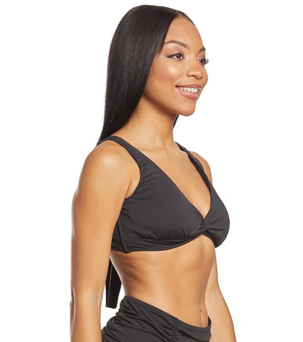 bdf8990f05f Tommy Bahama Pearl Solids Twist Front Bra Bikini Top at SwimOutlet ...