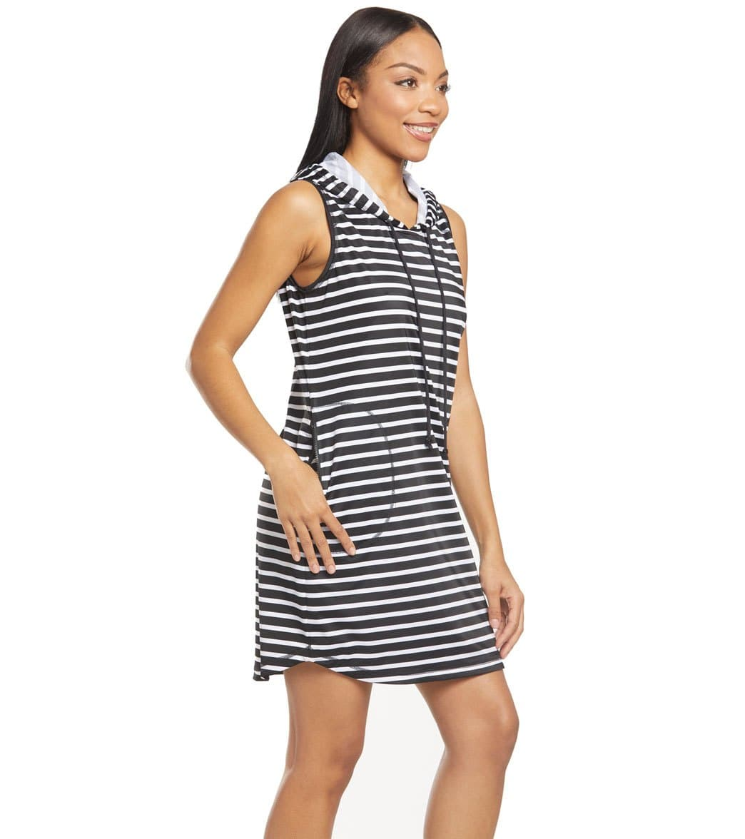 6c7442693a Tommy Bahama Island Active Stripe Hooded Cover Up Dress at SwimOutlet.com - Free  Shipping