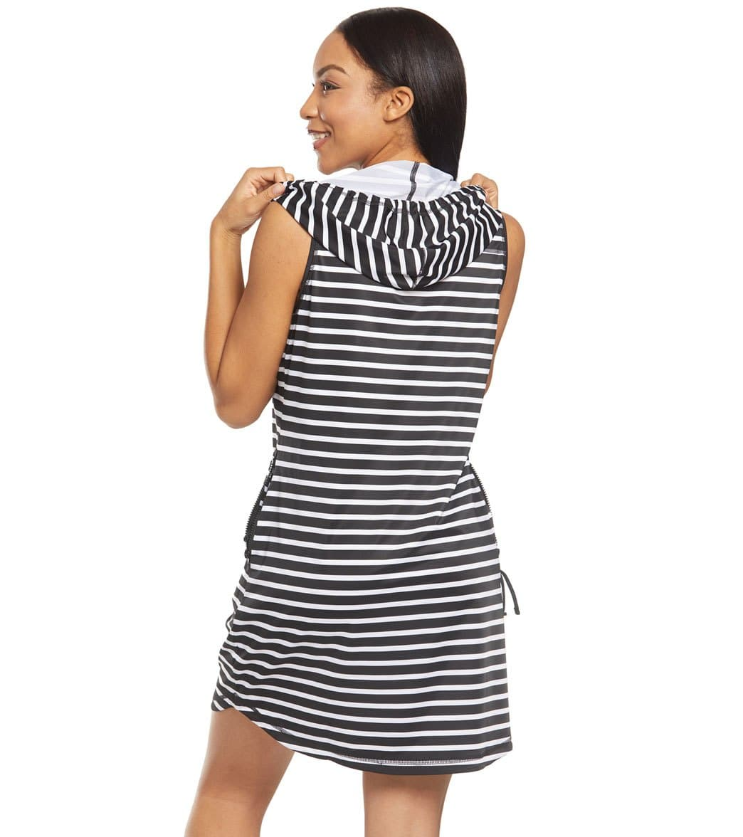 7f47ae490c Tommy Bahama Island Active Stripe Hooded Cover Up Dress at ...