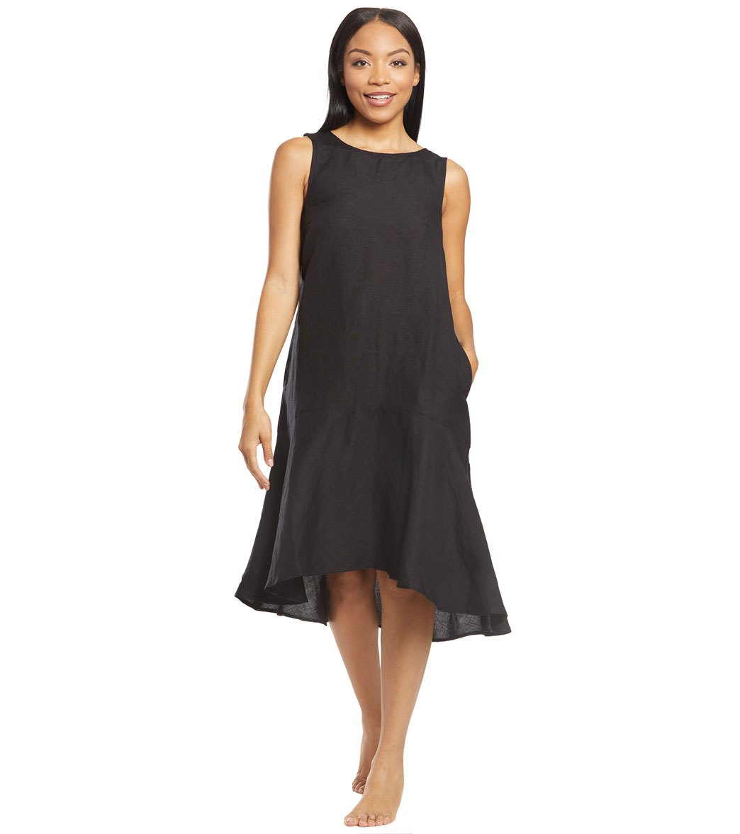 b42a6e6f49 Tommy Bahama Linen Garment Dye Flounce Cover Up Dress at SwimOutlet.com - Free  Shipping