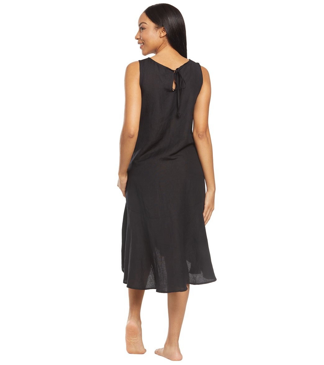 4713475cd4 Tommy Bahama Linen Garment Dye Flounce Cover Up Dress at SwimOutlet ...
