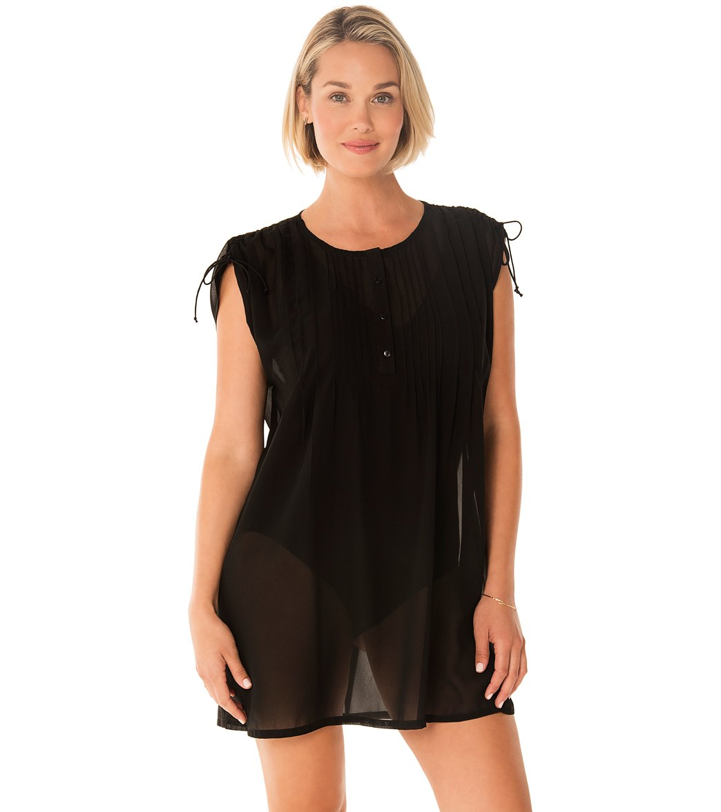 9f4821263df84 Penbrooke Take Cover Poly Georgette Adjustable Shoulder Cover Up Dress at  SwimOutlet.com