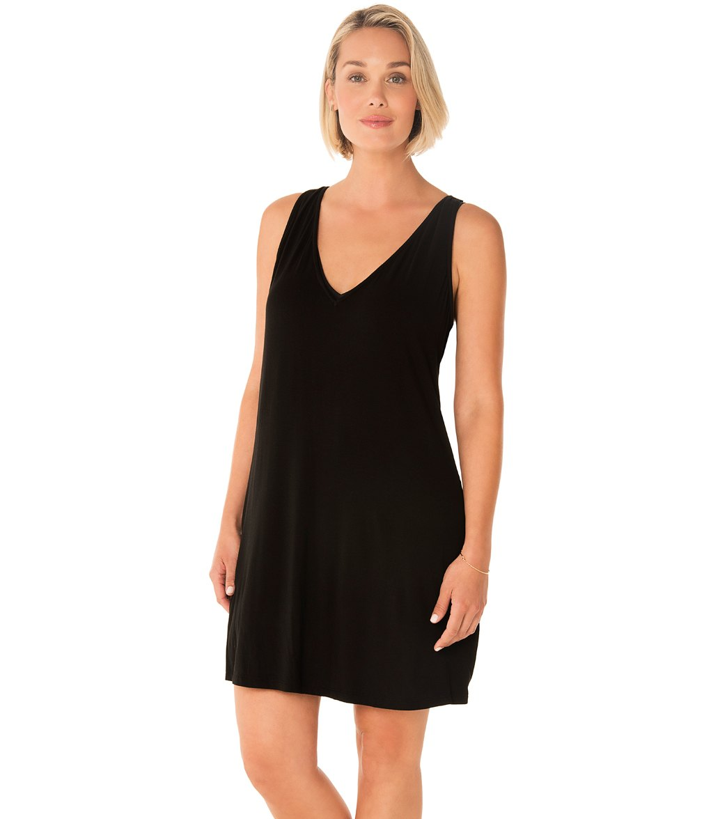 f10af25088d83 Penbrooke Take Cover V-Neck Cover Up Dress at SwimOutlet.com - Free Shipping