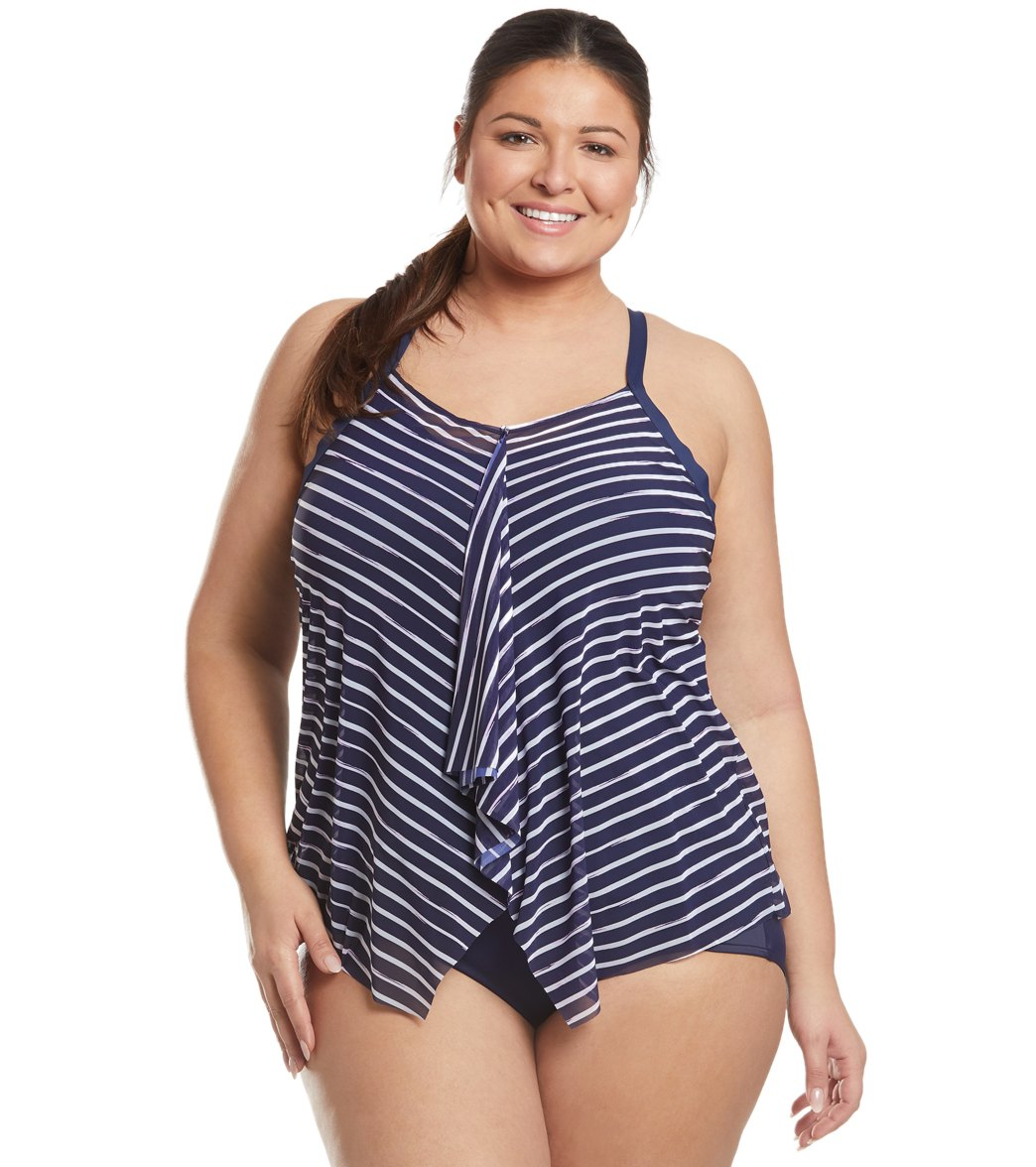 a9f13a7d2a579 Beach House Plus Size Shoreline Kerry Tankini Top at SwimOutlet.com - Free  Shipping