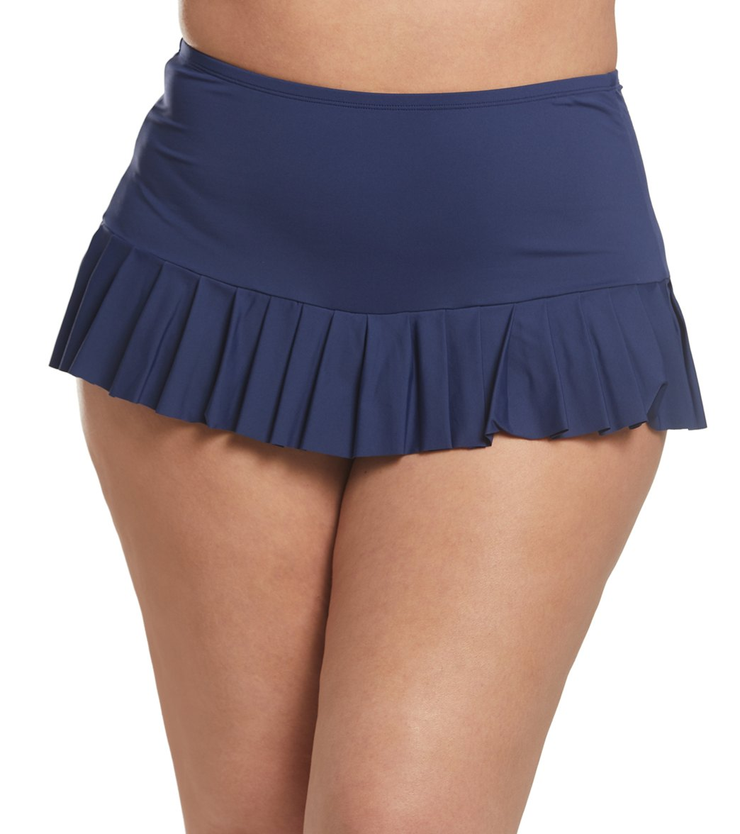 5fc6a8aa6 Beach House Plus Size Paloma Beach Sophie Pleated Swim Skirt at  SwimOutlet.com - Free Shipping