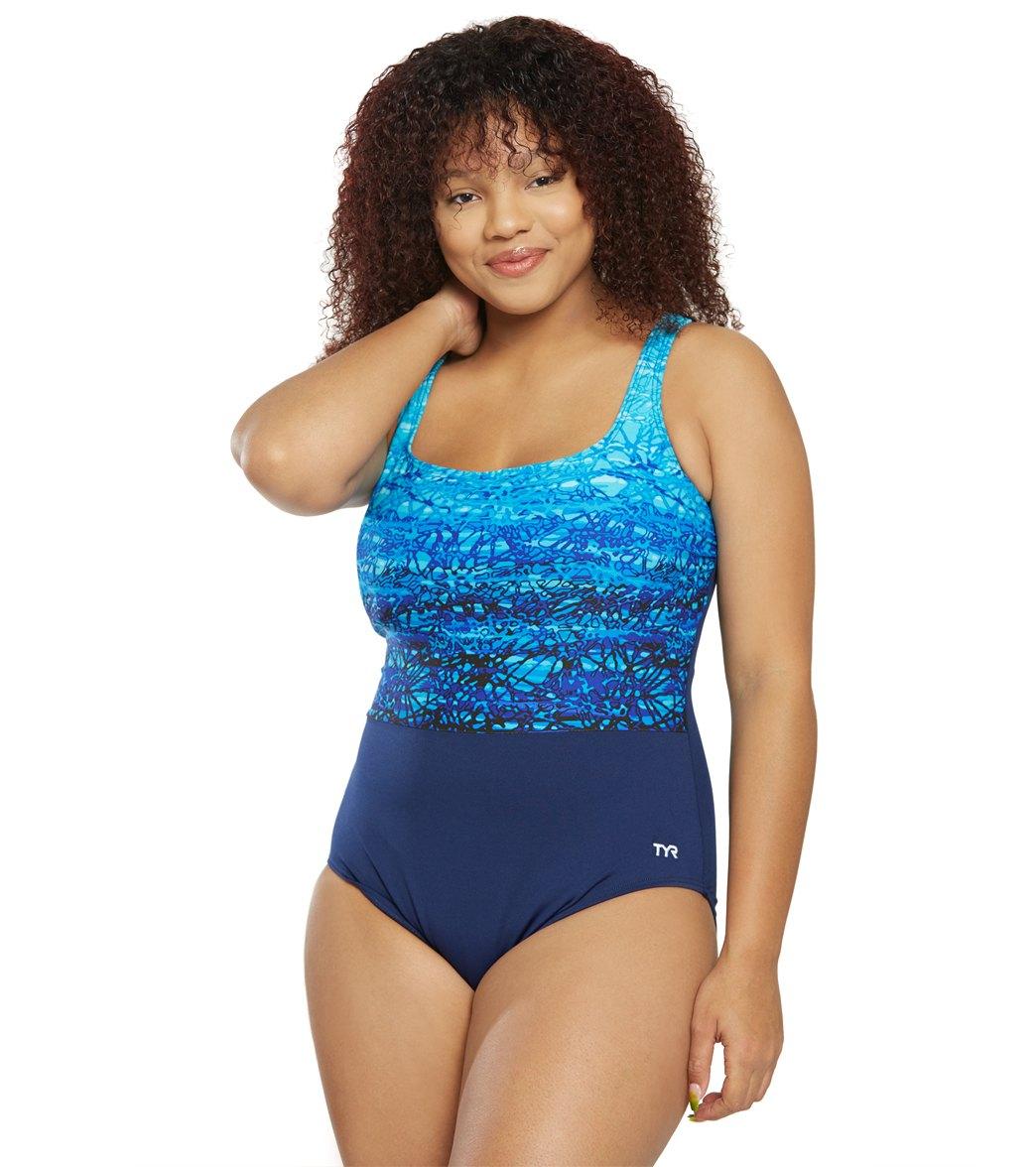 63508b981ce TYR Women's Plus Size Arctic Scoop Neck Controlfit Chlorine Resistant One  Piece Swimsuit