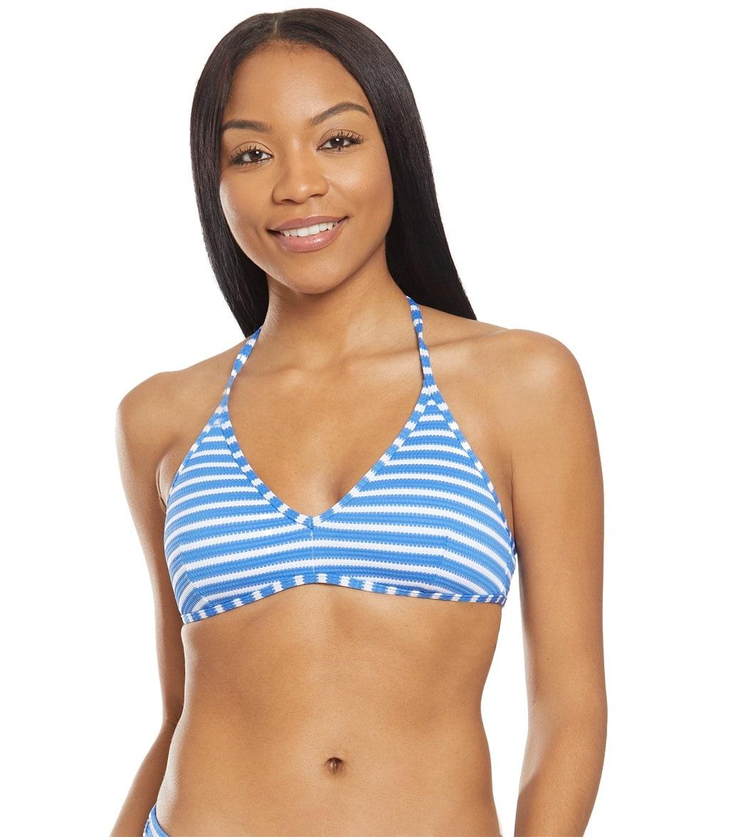 fcd4429e Polo Ralph Lauren Pique Stripe Halter Bikini Top
