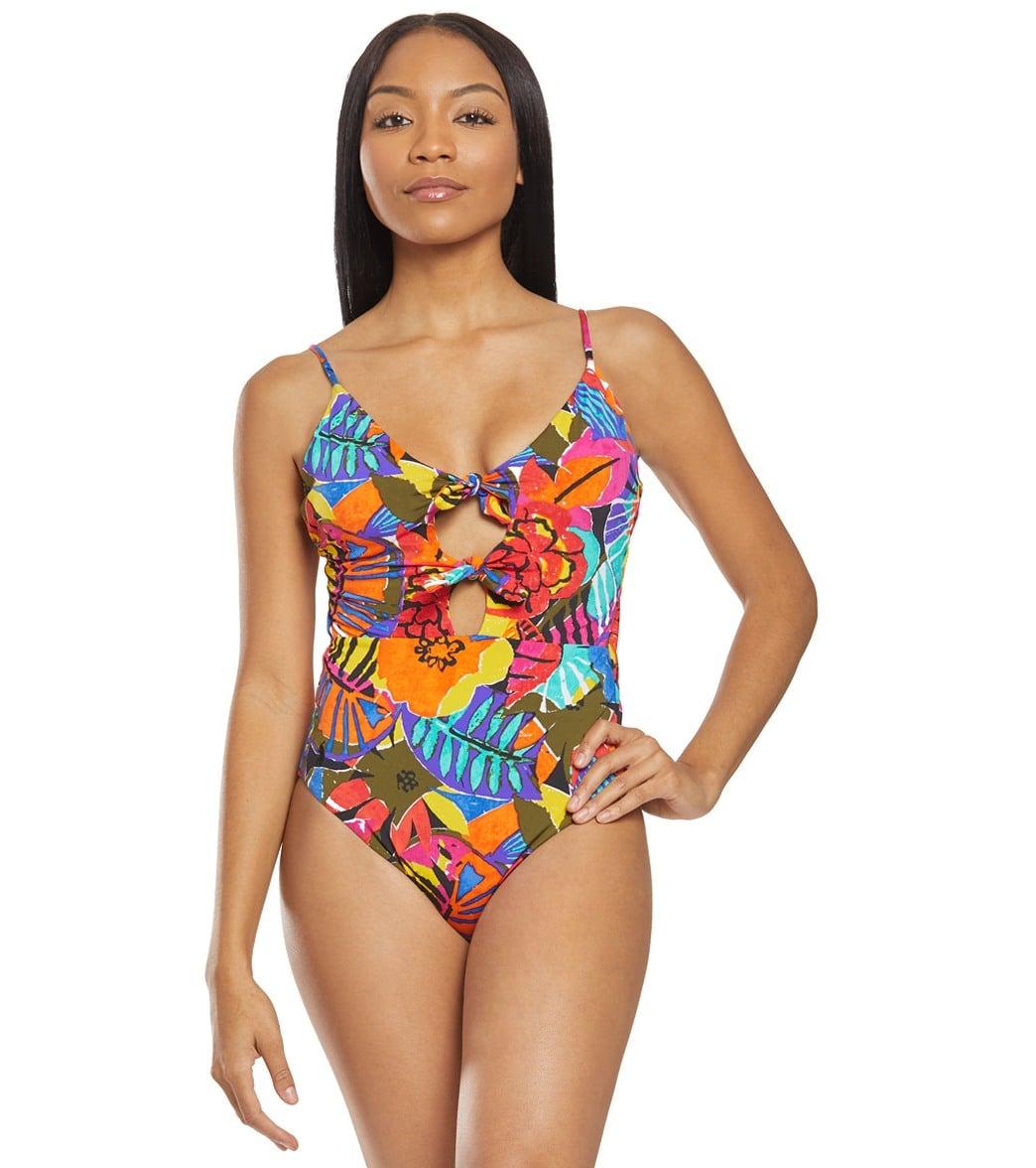 7c88acc9a9714 Polo Ralph Lauren Batik Floral Double Tie One Piece Swimsuit at  SwimOutlet.com - Free Shipping