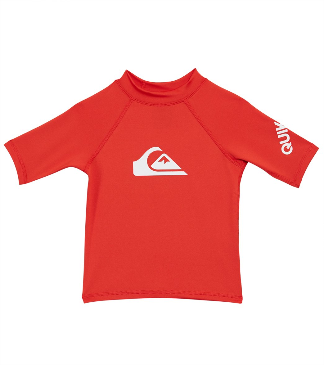 7e3bb0d3279b3 Quiksilver All Time Short Sleeve Rash Guard (Toddler, Little Kid) at  SwimOutlet.com