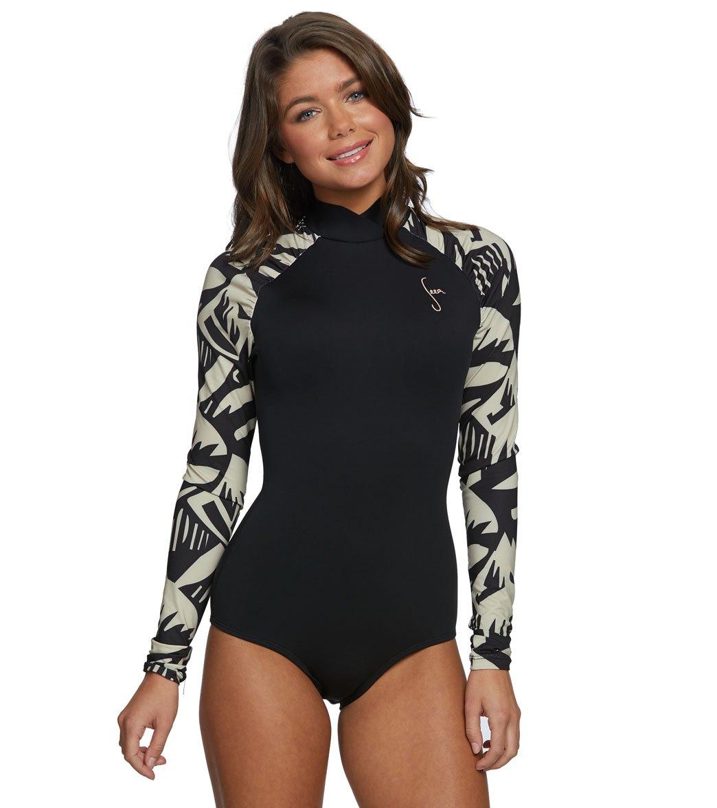 642912822b Seea 0.5mm Neoprene Gaviotas Buzios High Neck Long Sleeve Surf Suit (C Skin)