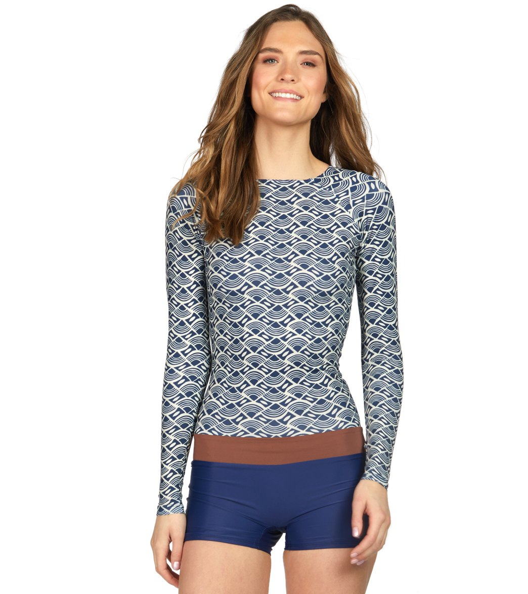 5eb72b6f2a Seea Swami s Boro High Neck Long Sleeve One Piece Swimsuit at  SwimOutlet.com - Free Shipping