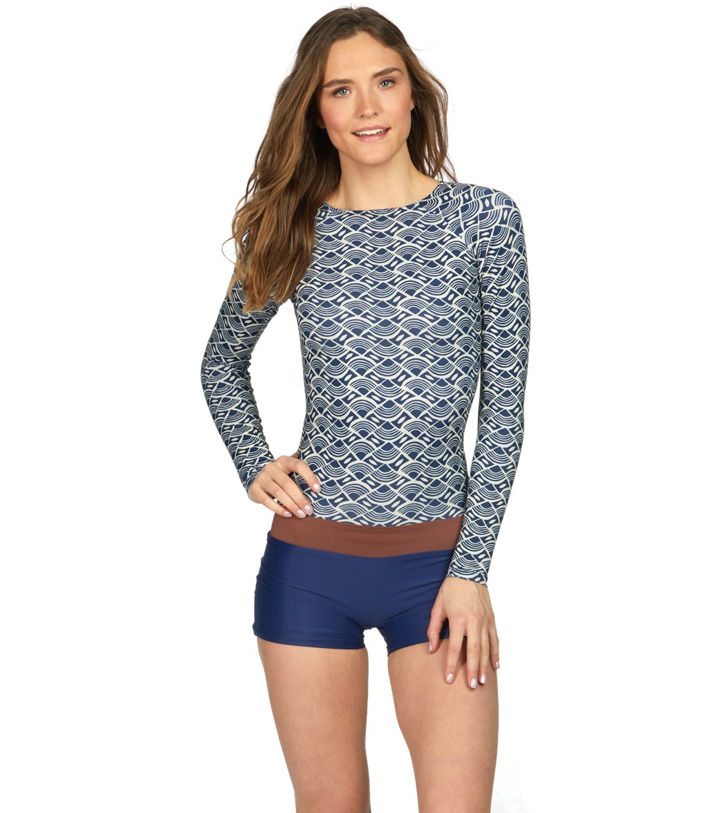 cf00fb10bc Seea Swami s Boro High Neck Long Sleeve One Piece Swimsuit at ...