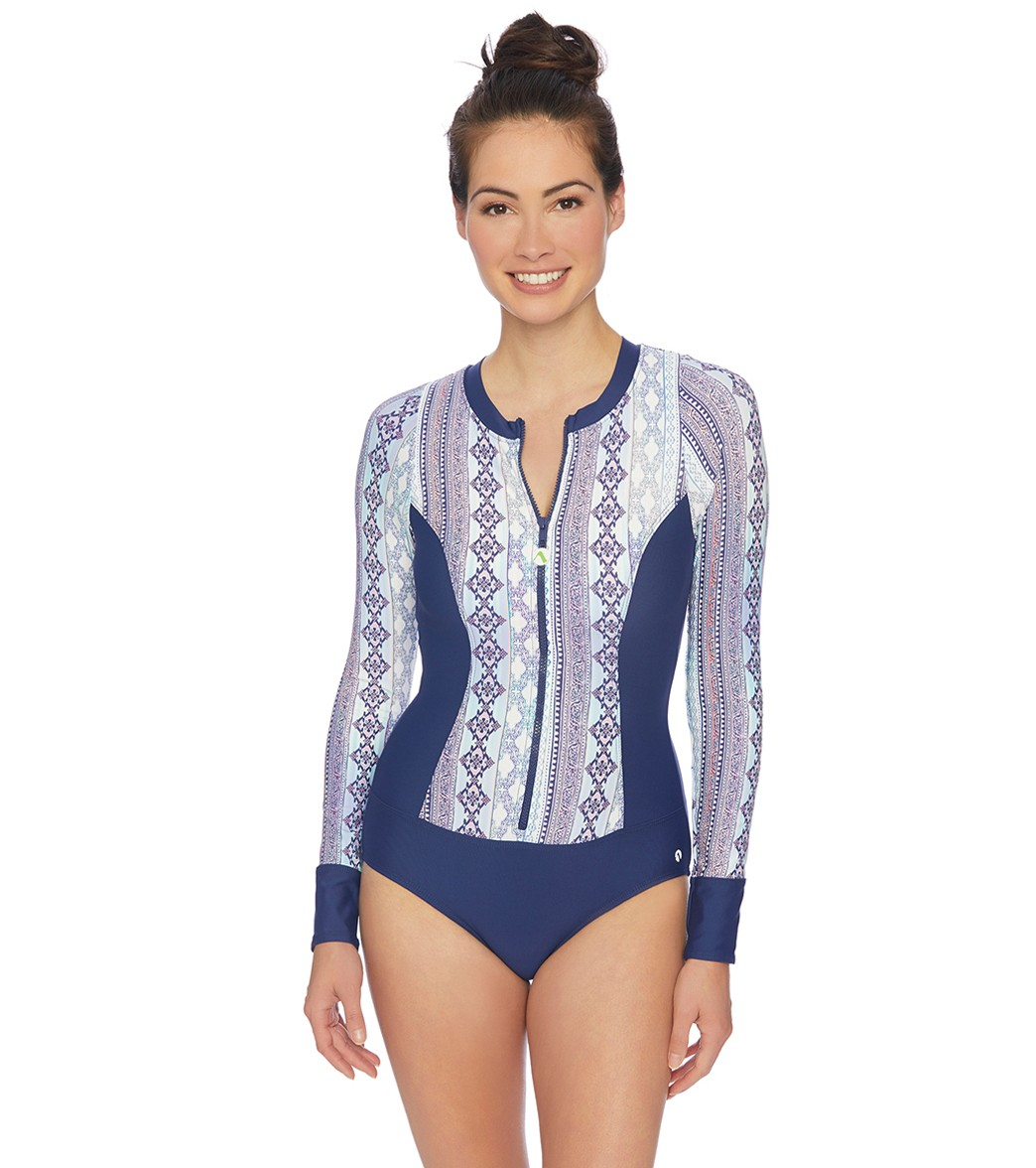 d74f70d37 Next Stargazing Malibu High Neck Long Sleeve One Piece Swimsuit at  SwimOutlet.com - Free Shipping