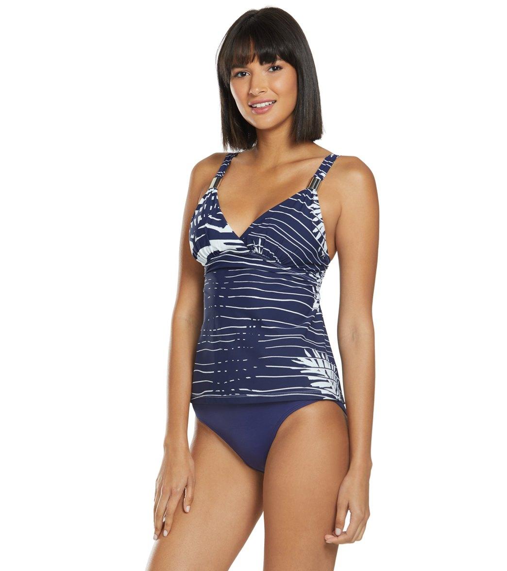 948958974e539 Amoressa Venetian Affair Lido Surplice Tankini Top at SwimOutlet.com ...