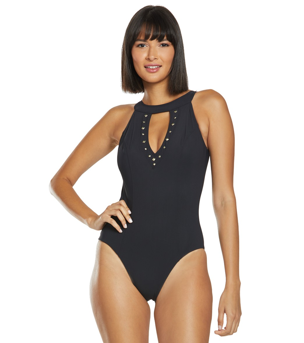 a5c05254b2a Amoressa Freedom Linda High Neck One Piece Swimsuit at SwimOutlet.com -  Free Shipping