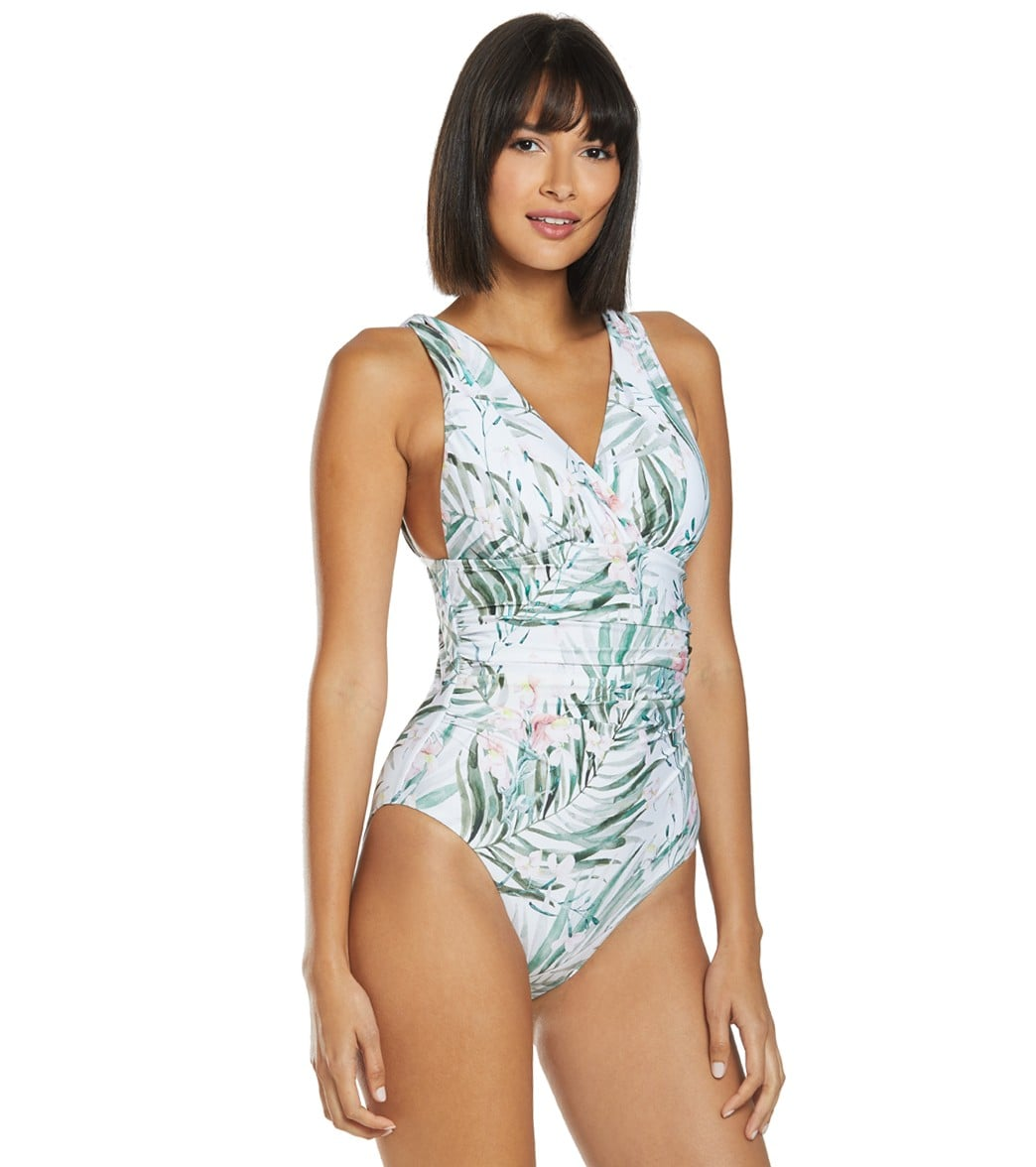 6645c22e30 Athena Painted Nature Halter One Piece Swimsuit at SwimOutlet.com - Free  Shipping