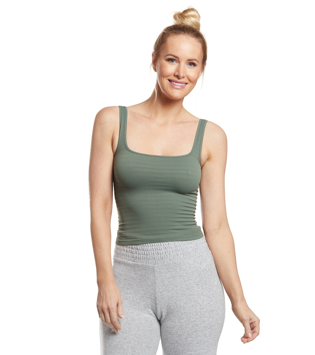 3a5df5a9cc Free People Square One Seamless Cami at YogaOutlet.com