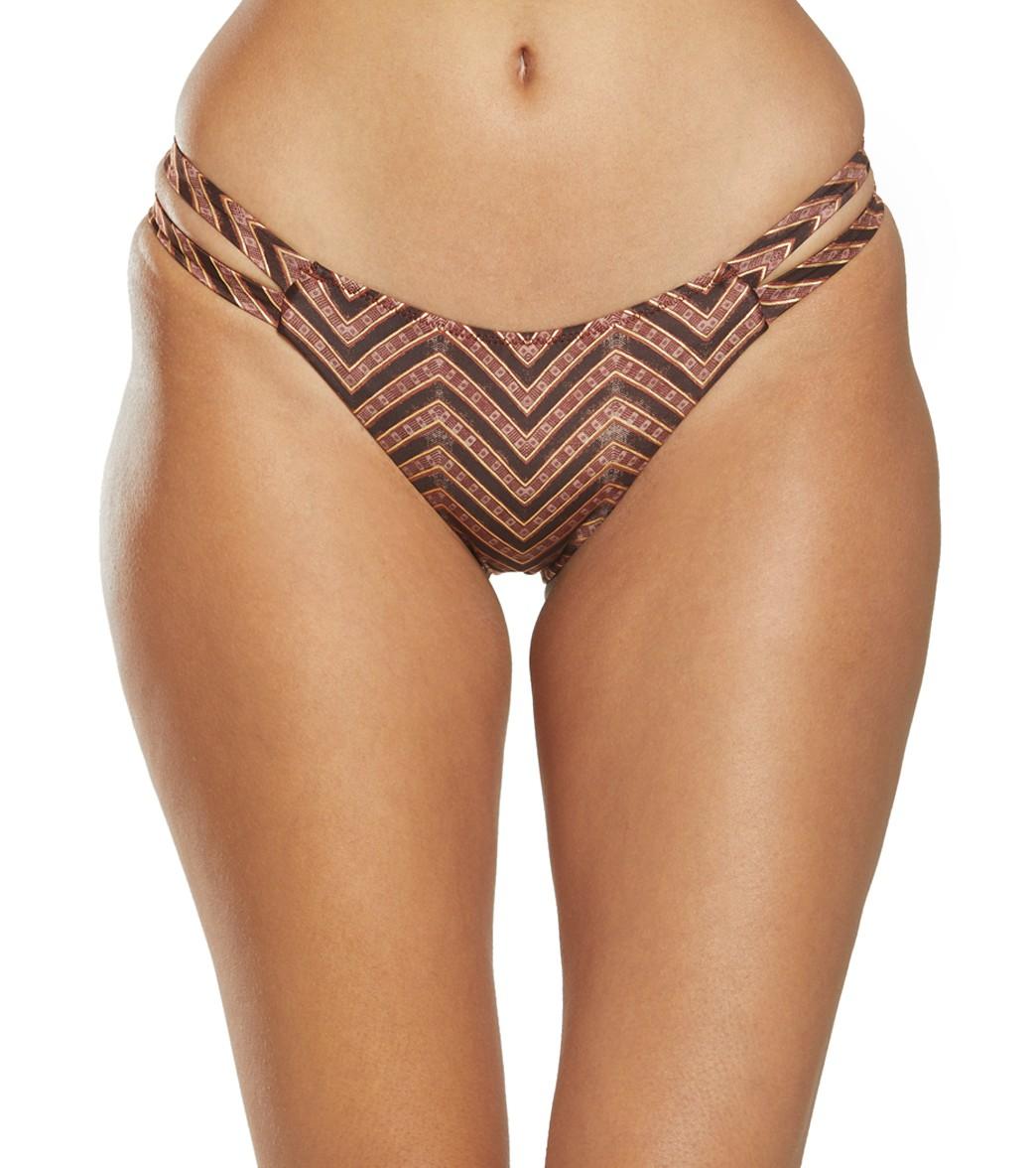 Tigerlily Imane High Tiger Bikini Bottom - Zig Zag