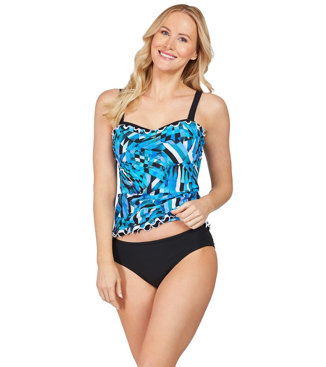 ffbde46421115 Profile by Gottex Tidal Wave Underwire Tankini Top (D/E Cup) at ...