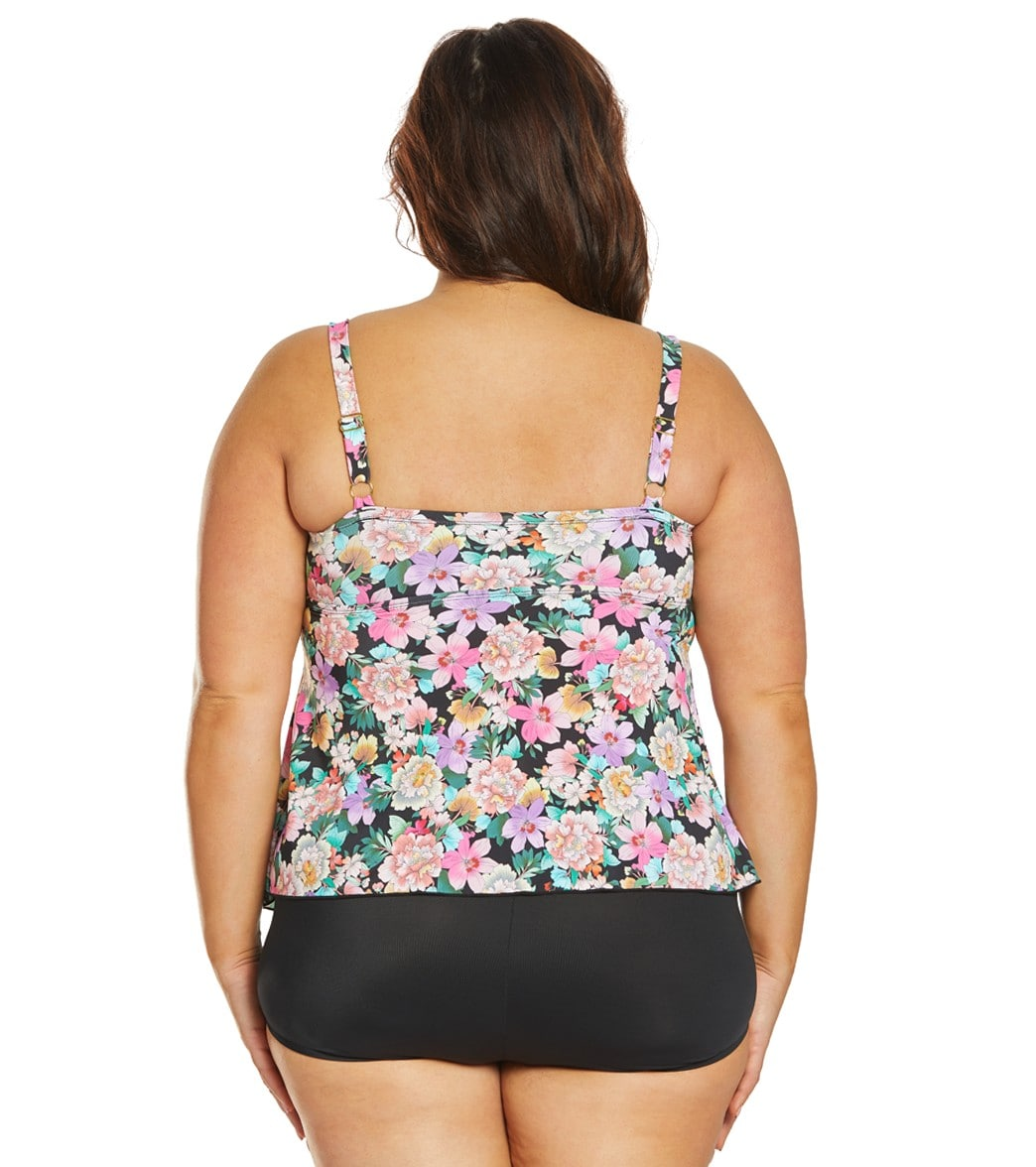 1a42904658 Fit4U Plus Size Love Story Waterfall Tankini Top at SwimOutlet.com ...