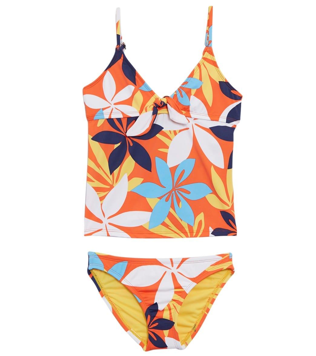 d1d0e4c4d0 Hobie Girls' Bloomy Daze Two Piece Bikini Set (Little Kid, Big Kid) at  SwimOutlet.com