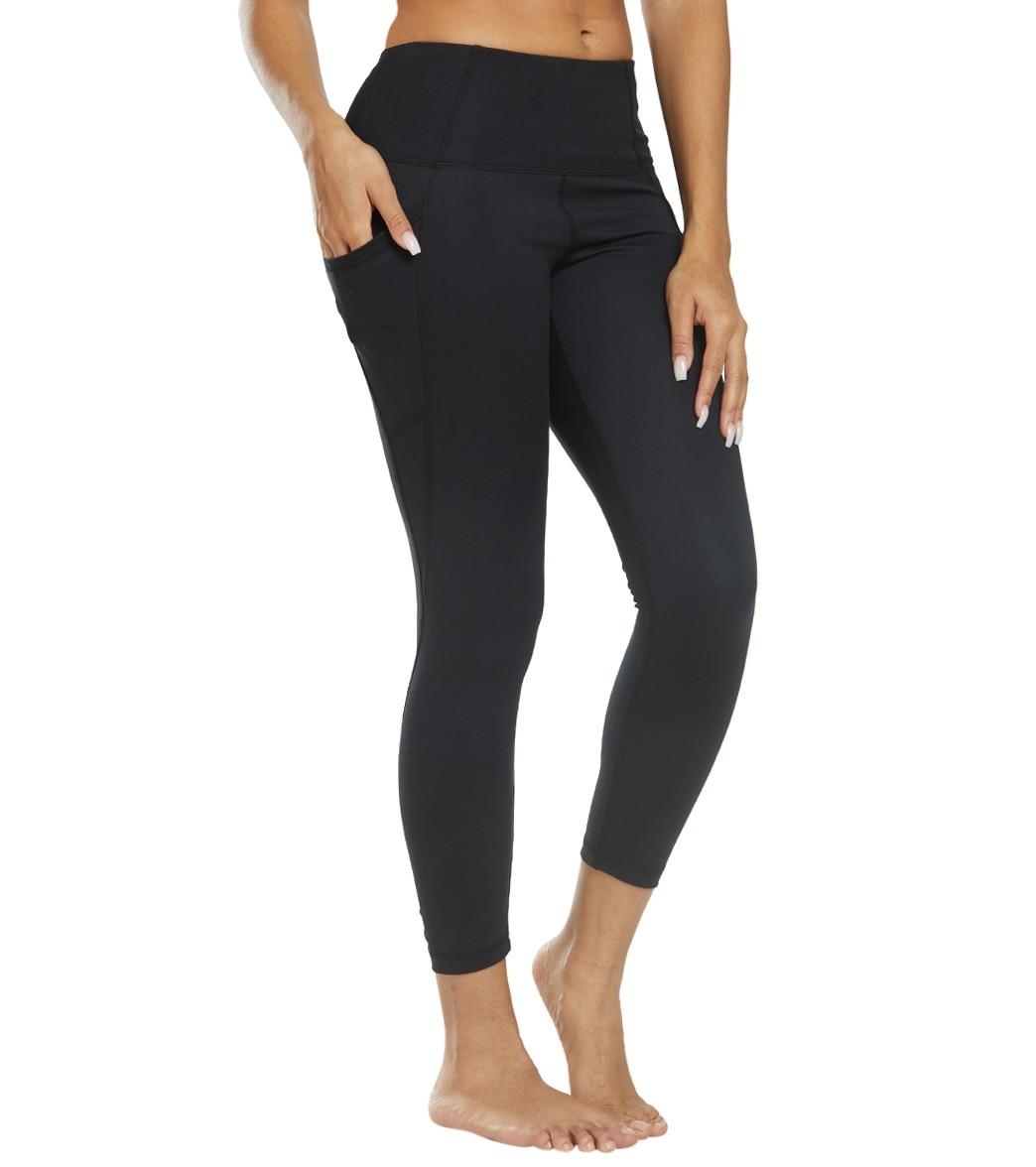 fcd0cce87414a Danskin Shirred 7/8 Yoga Leggings at YogaOutlet.com
