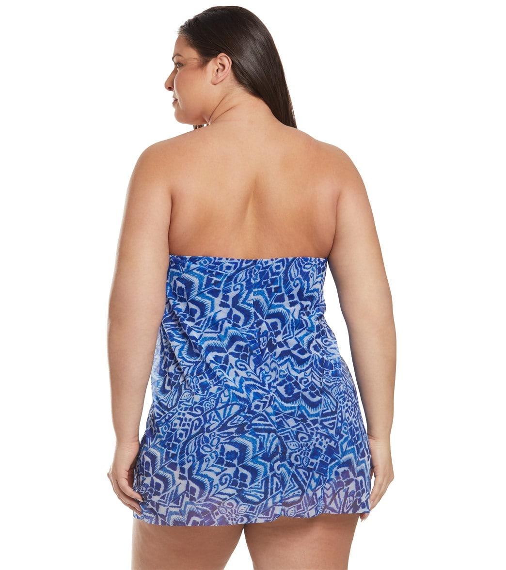 83644116a52c4 Lauren Ralph Lauren Plus Size Bias Tribal Ikat Convertible One Piece  Swimsuit